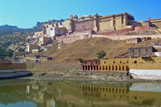 Amber Fort and Lake