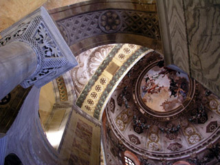 Interior of San Vitale Basilica
