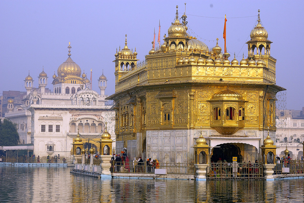 golden religious temple place is visited amritsar gold world the most in content