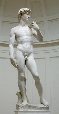 Michelangelo's David in the Tribuna