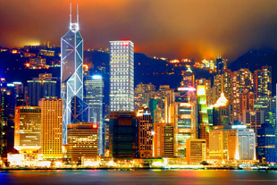 Night View Victoria Harbor & HK Central