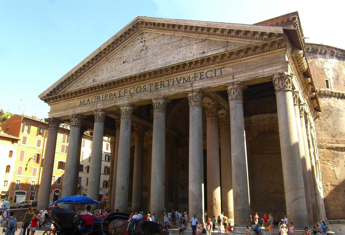 Pantheon pictures facts historical information rome for Rome in rome