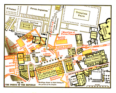 1904 Map of the Roman Forum