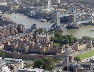 Sky View of Tower of London