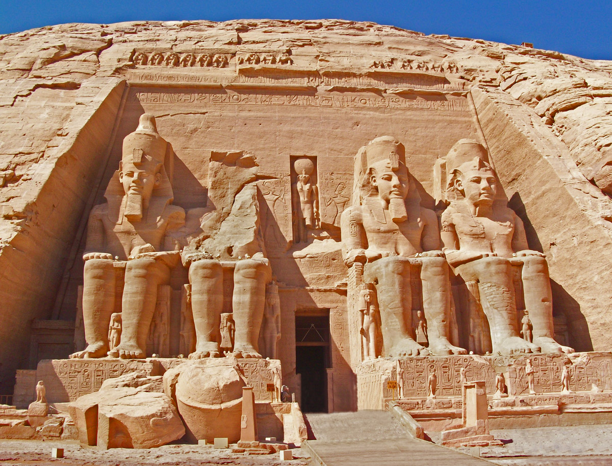 Great sun temple of ramses ii at abu simbel