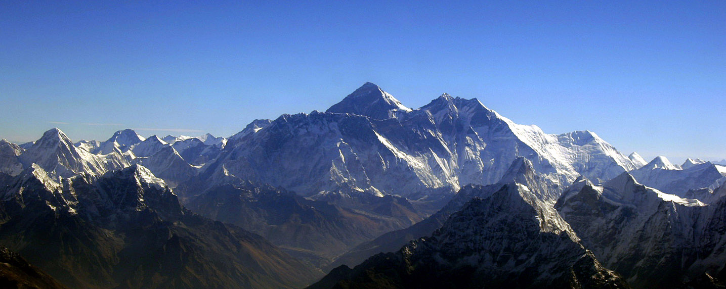 Aerial view of mount everest from the south
