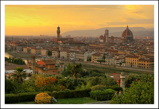Beautiful Sunset View at Florence