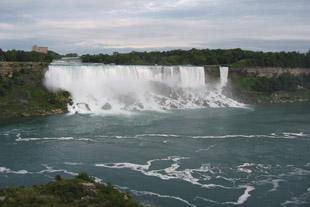 American Falls and Bridal Veil Falls at Niagara Falls