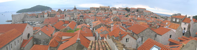 Panorama View of Dubrovnik Old City, Croatia