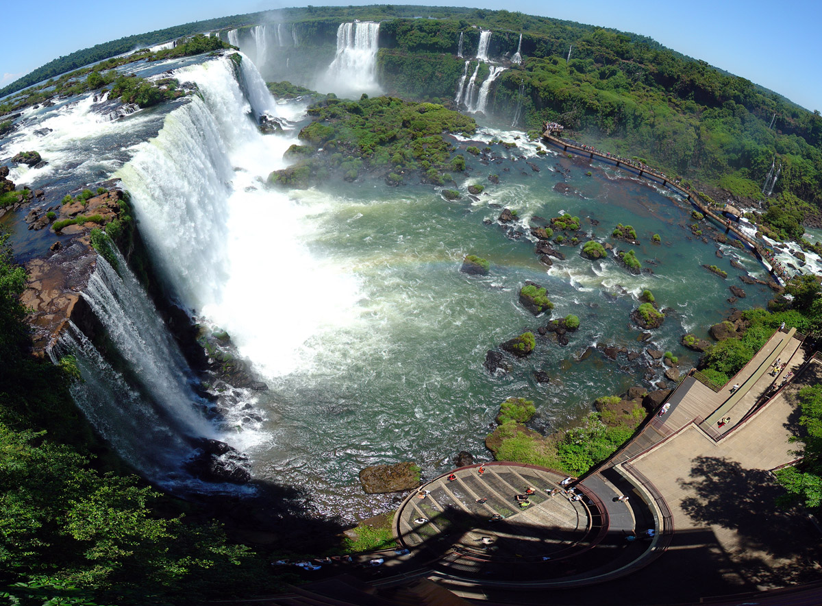 Iguazu Falls and Brazilian tourist complex