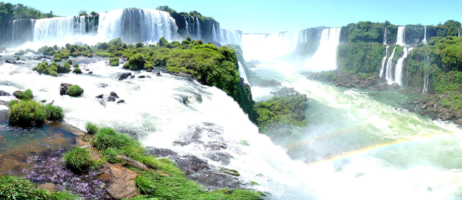 View of Iguazu Falls in Brazil