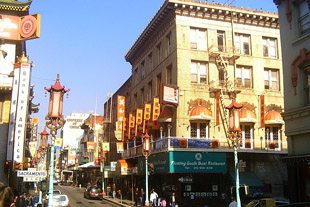 Grant Avenue and Sacramento Street in Chinatown, San Francisco