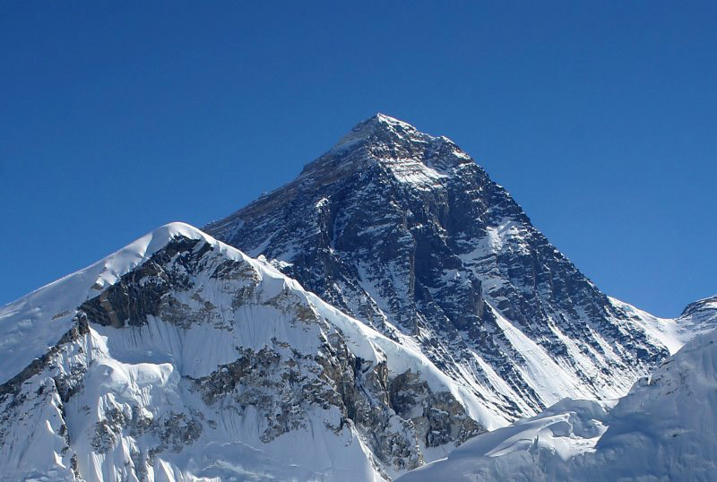 View of everest from kala patthar in nepal