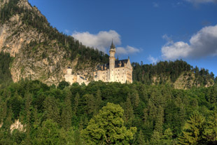 Picture of Neuschwanstein Castle Taken From the Ground