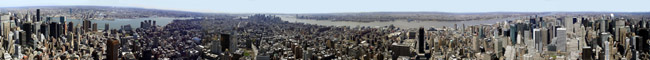 Panorama View of New York Skyline