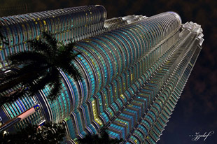 Petronas Twin Tower From the Bottom