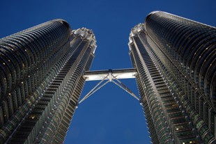 Petronas Twin Towers Looking Up