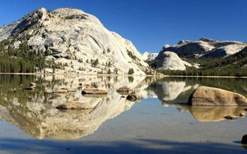 Granite Domes on Tenaya Lake at Yosemite National Park