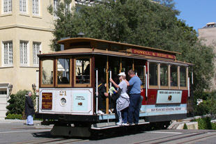 San Francisco's Cable Car at Lombard Street