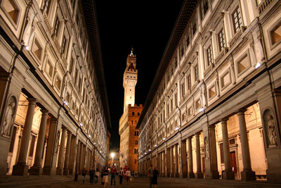 Uffizi Gallery Narrow Courtyard