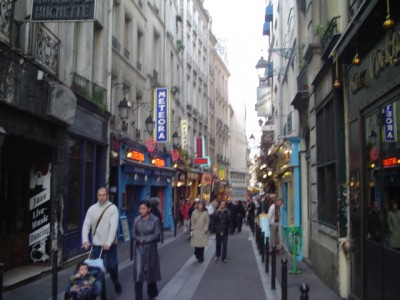 A small street in Latin Quarter of Paris