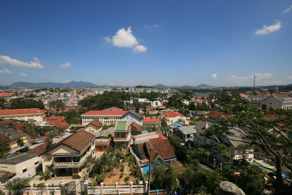 da lat Da lat has long been the most popular location in the region for getaway holidays since french colonial times many people call it 'le petit paris' and the town even features a mini-replica eiffel tower in its centre.
