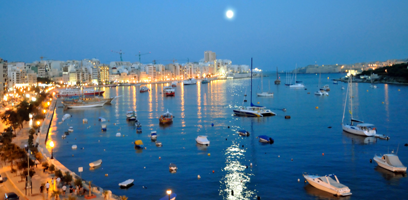 Malta Adasındaki Sliema şehri