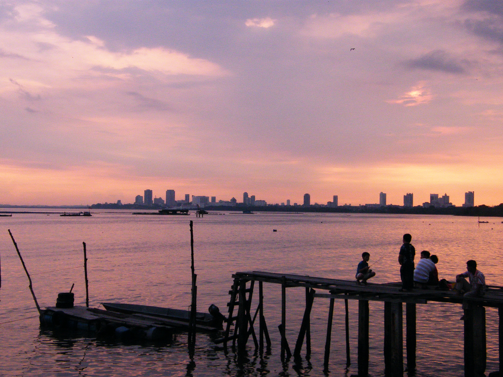 Johor Bahru – sunset view from Senibong