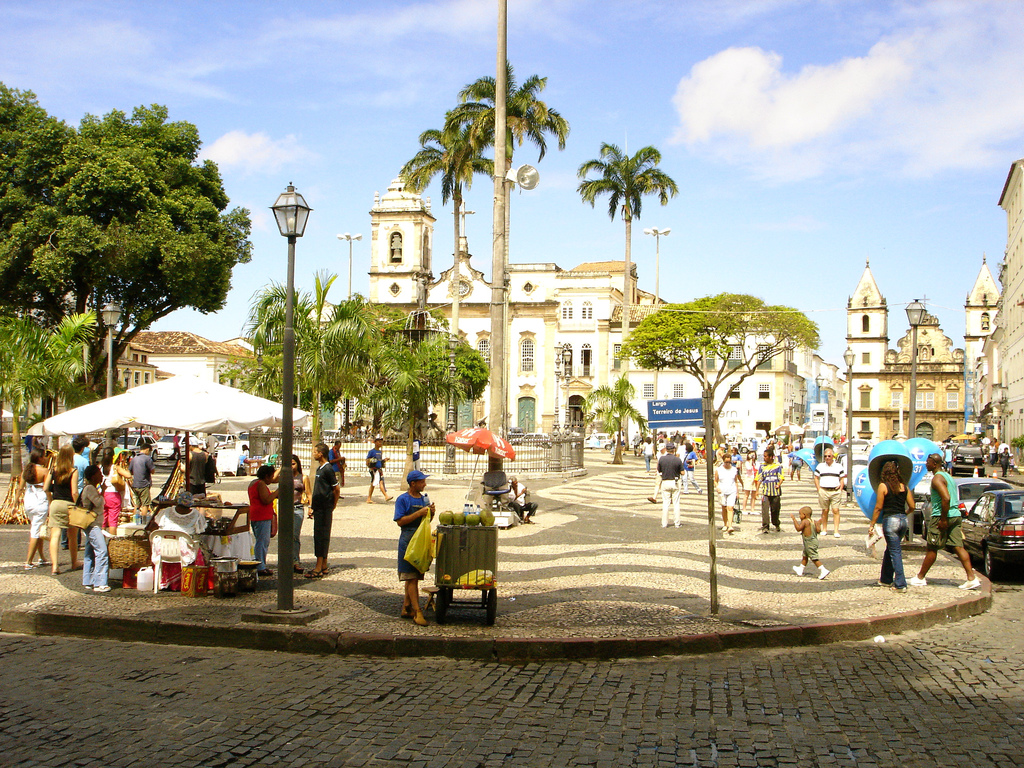 The town square of Salvador, Brazil.