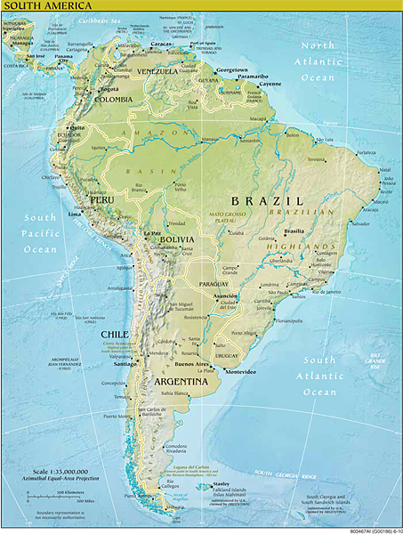 South America - How many mountain ranges are in the united states