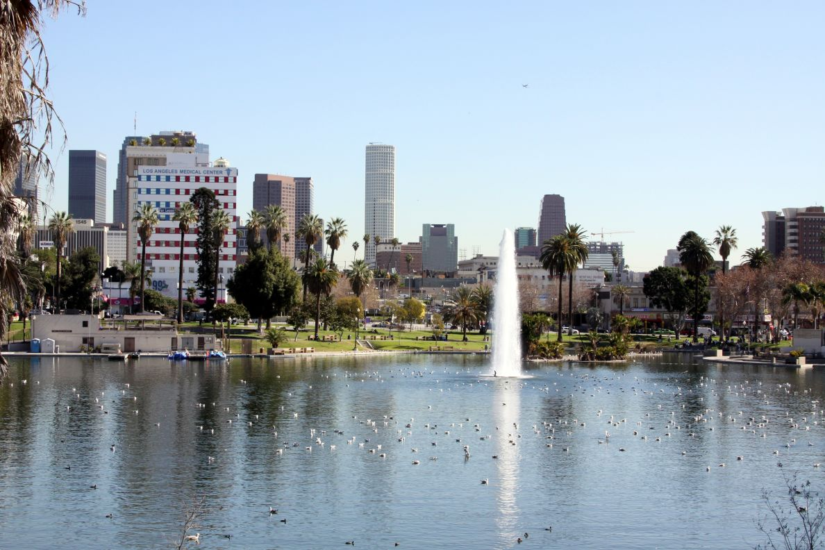 Macarthur Park in Downtown Los
