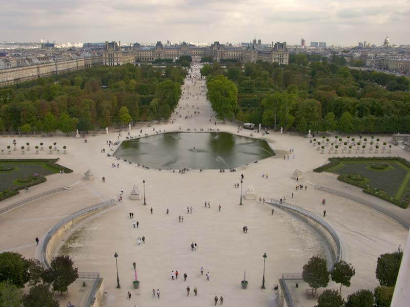 Jardin des tuileries for Paris tuileries