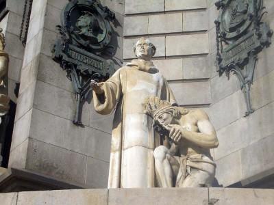 Statue of Father Bernat de Boil at the Columbus Monument