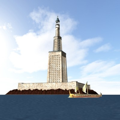 Lighthouse of Alexandria 3D Construction