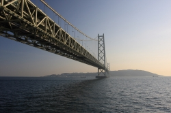Akashi Kaiko Bridge View From Water