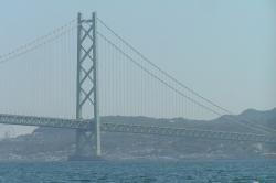 View of Akashi Kaikyo From the Ohkura Beach