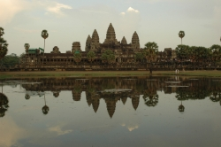 Angkor Wat Reflected in The Clear Water