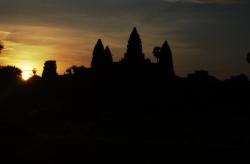 Sunset at Angkor Wat, Too Dark To See Anything