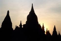 Night Shot of Bagan Temples