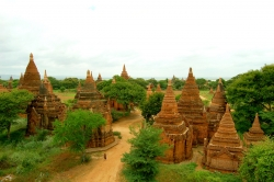 Old Bagan Pagodas