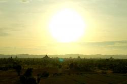 Sunset of Bagan Area