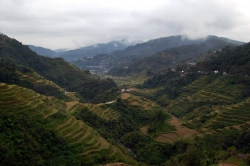 Banaue Rice Terraces During a Cloudy Day