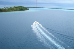 Gliding on Water at Bora Bora