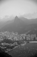 Black and White Perspective of Corcovado