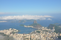 Cloudy View of Corcovado and Rio City