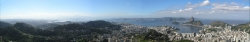 Much Wider Panorama View of Rio and Corcovado