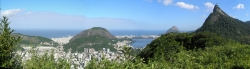 Wider Panorama View of Rio and Corcovado