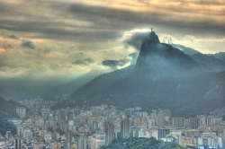 Cloudy Shot of Corcovado from Sugarloaf Mountain