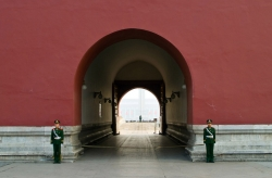 Two Guards in Front of The Forbidden City