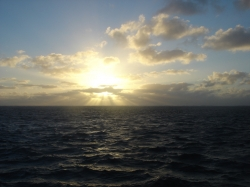Sunset at Great Barrier Reef